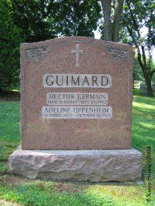 Gate of Heaven Cemetery – La tombe d'Hector et Adeline Guimard