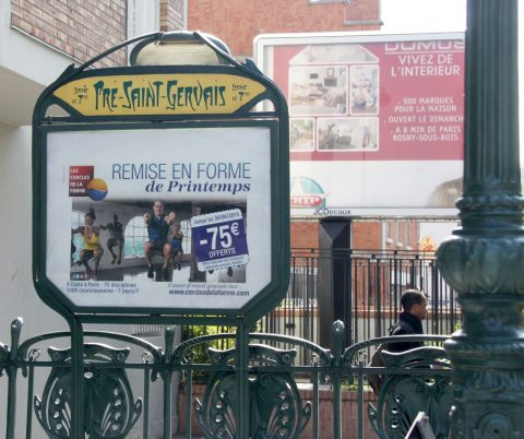 Station Pré Saint-Gervais, « cornichon » actuel, modèle après 2000. Coll. part.