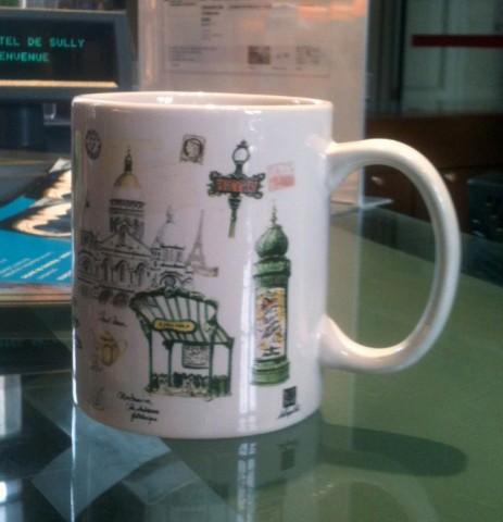 Tasse vendue dans une boutique pour touristes