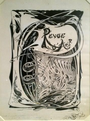 Esquisse pour la couverture de la Revue d'Art. 1899. Encre sur papier. Coll. Musée d'Orsay. Photo coll. part.