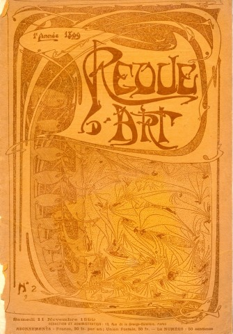Couverture de la Revue d'Art n° 2, novembre 1899. Photo coll. part.