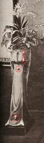 Stand Guimard à l'Exposition Universelle de Paris en 1900 (détail). Photo coll. part.
