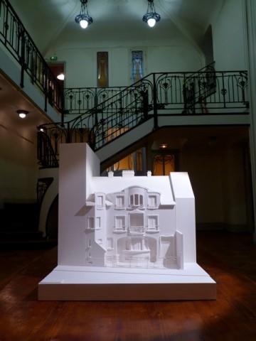 La maquette de l'hôtel Mezzara (propriété du Cercle Guimard) était exposée dans le hall pendant toute la durée de l'évènement.