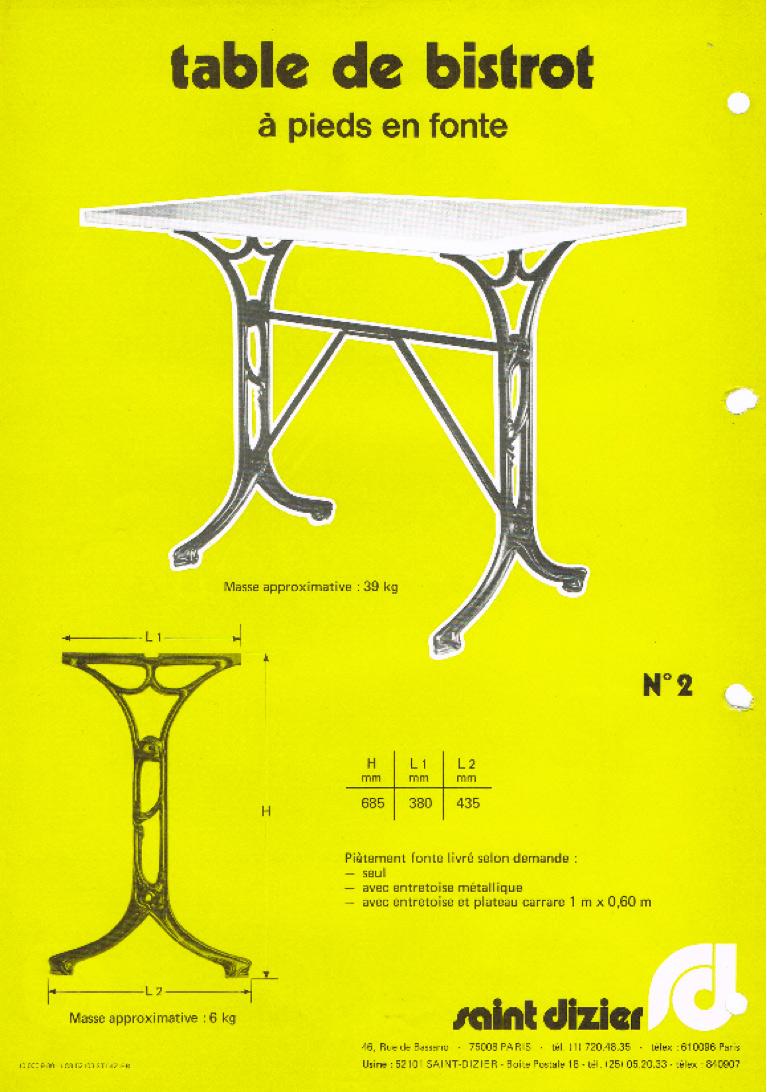 Plaquette édité par la fonderie de Saint-Dizier aux alentours de 1985.