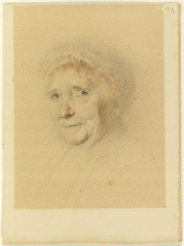 Adeline Oppenheim-Guimard, Portrait de madame Grivellé, 1915. Graphite, crayon sur papier cartonné. Haut. 47 cm, larg. 35 cm. Signé AOGuimard. Cooper-Hewitt Museum. Don de madame Guimard. Inv. 18411119.