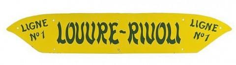 Plaque indicatrice vendue chez Artcurial Paris, le 1er mars 2011, lot 7, pour 1211 €.