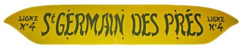 Plaque indicatrice vendue sur eBay en juillet 2011, pour 2500 €.