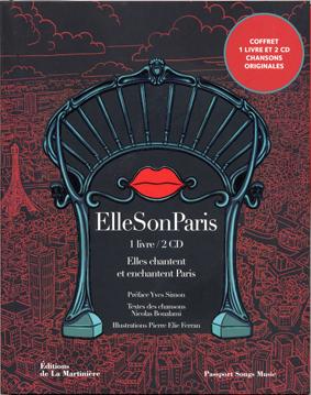 Pochette de CD « Elle Son Paris », chansons sur Paris