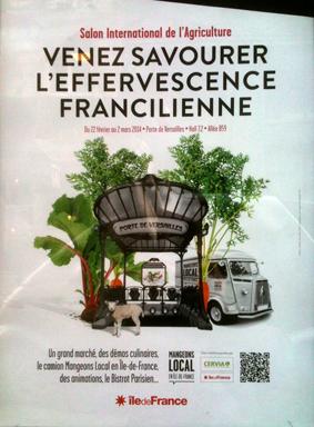 Affiche publicitaire pour le Salon international de l'Agriculture de 2014