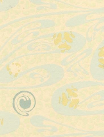 Album du Castel Béranger, planche 41 (détails). Papier peint des chambres.