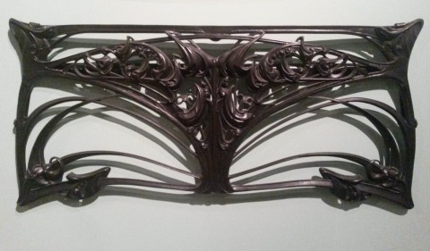 Balcon de croisée GA en fonte, maître modèle. Fonderies de Saint-Dizier, avant 1909. Coll. Musée d'Orsay. Photo coll. part.