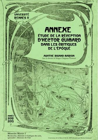 Publication Cercle Guimard